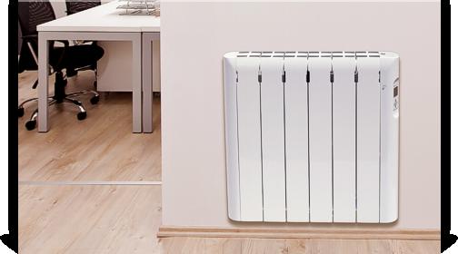 Detalle del radiador eléctrico Eco Sensor de Haverland